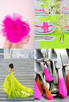 Bright colors for cinco de mayo. i love the idea of spray painting the handles of mismatched garage sale, thrift store silverware instead of using disposable plastic...cute idea...but anyone know if its safe?