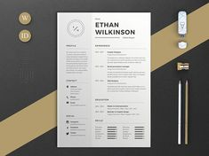 Resume Template 5 Pages - Modern Stylish CV Template for Word + ...