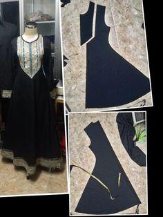 Best how to cut clothes Ideas Motif Abaya, Abaya Pattern, Kurti Patterns, Dress Sewing Patterns, Sewing Patterns Free, Clothing Patterns, Cut Clothes, Sewing Clothes, Clothes For Women