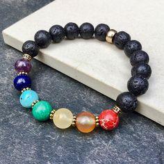 Bracelet 7 chakras  Bracelet yoga mala méditation  Bracelet
