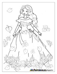 Planse cu ZANA TOAMNA - Imagini de colorat | Fise de lucru - gradinita Fall Coloring Pages, Coloring Pages For Boys, Christmas Coloring Pages, Coloring Pages To Print, Animal Coloring Pages, Coloring Books, Drawing For Kids, Art For Kids, Crafts For Kids