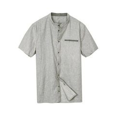 Summer Men's Short-sleeve Shirts Men Gray Breathable Shirts Male Slim Shirt Fashion Style