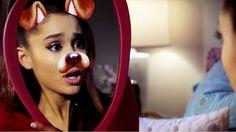 Watch Ariana Grande's Wacky Snapchat Horror Film 'Dog Face Filter ...