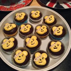 Cakes for Pudsey, my first attempt at freehand butter cream, may not be perfect but they sold quickly