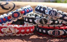 Paracord bracelets - *Inspiration* sports-themed