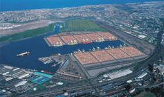 According to the American Association of Port Authorities World Port Rankings 2009, Port of Durban in Durban South Africa, is the largest container terminal in the Southern Hemisphere.