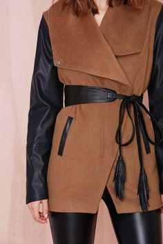 B-Low the Belt Ana Leather Belt   Shop What's New at Nasty Gal // let's take a minute to talk about how amazing this coat/jacket is. like, whoa.