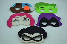 Teen Titans Go sentía máscaras  niños niño o niña superhéroe
