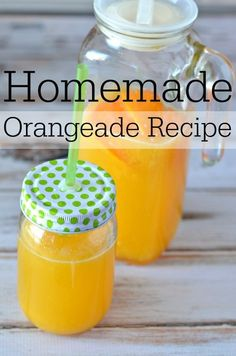Fresh Squeezed Orange Juice Homemade Orangeade Recipe - Know Your Produce Homemade Orange Juice, Orange Juice Cake, Orange Juice Smoothie, Strawberry Banana Smoothie, Best Orange Juice Recipe, Orange Juice Cocktails, Juice Drinks, Fruit Juice, Yummy Drinks