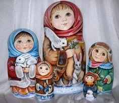 Russian matryoshka beauty girl winter handmade exclusive #handmade