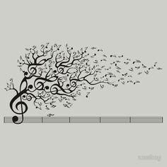 ideas music drawings ideas creative for 2019 Music Tattoo Designs, Music Tattoos, Tatoos, Vitrine Design, Music Tree, Wall Murals, Wall Art, Music Drawings, Music Painting