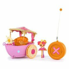 Lalaloopsy Mini Lala Oopsie RC Boat, 27 MHz by Lalaloopsy. $25.26. Runs on both land and in water. Fits all Lalaloopsy and Lala-Oopsie Mini dolls. Lala-Oopsie themed. Moves forward and turns. From the Manufacturer                The whimsical world of Lala-Oopsies just got a little bigger. Now you can have the cuteness of the Mini lala-Oopsies in the palm of your hand. Play and explore the strawberry milk river with this magical RC Boat.