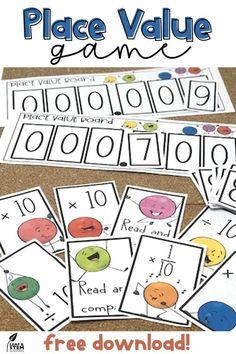 Teaching decimal place value to your grade or grade students is fun with this game! Multiply and divide by 10 or 100 to read and compare decimals and whole number in this FREE printable activity that will challenge your students to think of the b Place Value With Decimals, Math Place Value, Teaching Decimals, Teaching Math, Fractions, Maths, Teaching Ideas, Place Value Activities, Math Activities
