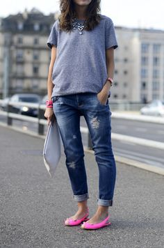 Like the jeans and shirt