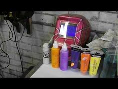 ▶ Airbrush tips- Using crafts acrylic cheap paints to airbrush - YouTube