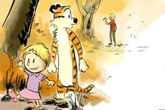 bacon and hobbes | So cute