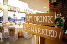 Cute signages for hire Wedding Receptions, Wedding Events, Signages, Event Photography, Table Decorations, Bride, Eat, Bridal, Wedding Bride