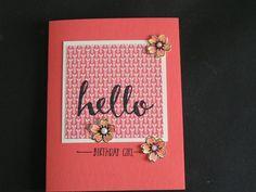 Stampin' Kat: Birthday Hello Girl