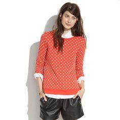 It's a sweatshirt!  How perfect is that?!?  Madewell+-+Sweatshirt+in+Domino+Dot