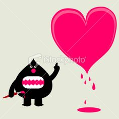 huge love heart painting | Stock Illustration | iStock