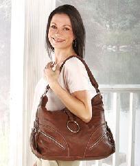 Fashionable Brown Hobo Handbag. Photons!