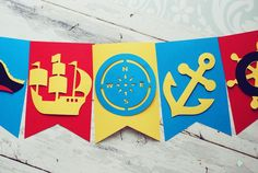 #birthday #party #banner #handmade #kids #pirat #cricut #explore #craft #home #decor #kidsroom