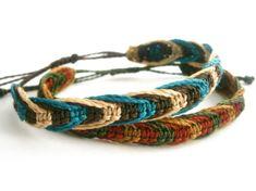 Mens bracelet/Macrame men bracelet/Surfer by Ancientmacrame