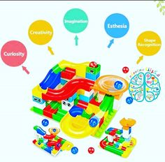 Sparkling Imagination of Your Kids. This marble race toy is a blast! The PCS Marble Race Run Maze Balls Track Building Blocks are a good educational toy. Building For Kids, Building Toys, Marble Tracks, Lego Duplo Sets, Best Educational Toys, Kids Blocks, All Lego, Lego Lego, Lego Batman
