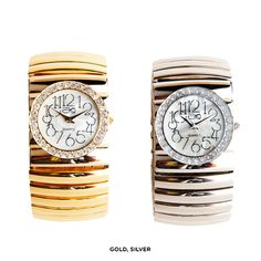 Jumbo Women's Fashion Watch with Stainless Steel Stretch Band - Assorted Finishes at 56% Savings off Retail!