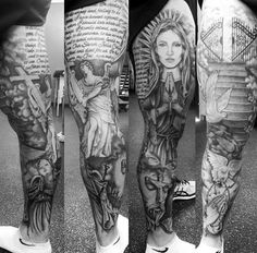50 Heaven Tattoos For Men – Higher Place Design Ideas Religiöse Themen Mens Heavens Gates Tattoos Bein Sleeve This. Tattoos Bein, Sky Tattoos, Full Leg Tattoos, Kunst Tattoos, Leg Tattoo Men, Best Sleeve Tattoos, Tattoo Sleeve Designs, Trendy Tattoos, Tattoo Designs Men