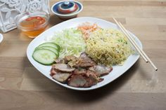Rice Dishes - BBQ Pork Rice (Egg Fried)