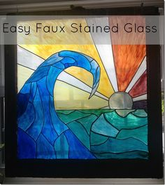 DIY: Easy Faux Stained Glass