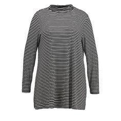 Langarmshirt - black/white  by Evans
