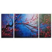 Found it at Wayfair - Stormy Cherry Tree 3 Piece Painting Print on Wrapped Canvas Set