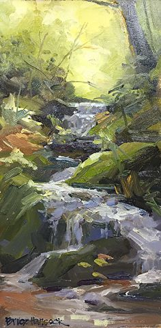 Bruce Hancock - In the Forest Ft. Bragg Ca- Oil - Painting entry - October 2017 | BoldBrush Painting Competition