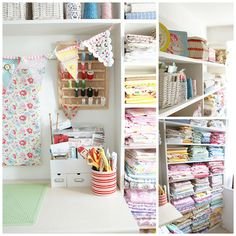 Heart Handmade UK: Craft Room Inspiration Sewing Rooms and Crafty  - Craft sewing room designs