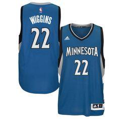 Men s Andrew Wiggins Minnesota Timberwolves adidas Swingman Blue Away Jersey c5bb7a2ce