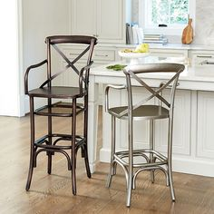 Constance Metal Counter Stool with Arms