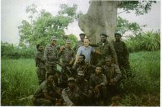 Angolan Special Forces pose with Soviet officer in Angola in 1986.