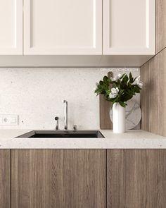 Modern Kitchen Cabinets, Kitchen Cabinet Design, Home Decor Kitchen, Kitchen Interior, Dream Home Design, House Design, Kitchen Styling, Contemporary Interior, Interior Design Inspiration