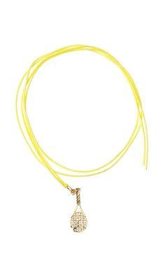 Yellow Tennis Racquet Bracelet