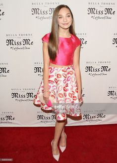 Maddie Ziegler wore two piece Mac Duggal (Style #30244) on the Red Carpet at the Miss Me and Cosmopolitan's Spring Campaign Launch Event hosted by Bella Thorne at The Terrace at Sunset Tower Hotel on February 3, 2016 in Los Angeles, California.