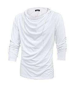 Men Cowl Neck Drawstring Casual Hooded Sweatshirt White M uxcell http://www.amazon.com/dp/B00MOJVAWW/ref=cm_sw_r_pi_dp_pSBRvb1WD5FZX