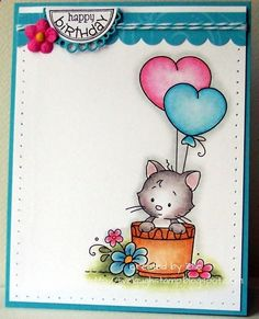 Wee Stamps - Amys Kitty