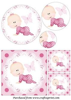 Crawling Baby Girl Circle Pyramid on Craftsuprint designed by Apetroae Stefan - Crawling Baby Girl Circle Pyramid - Now available for download!