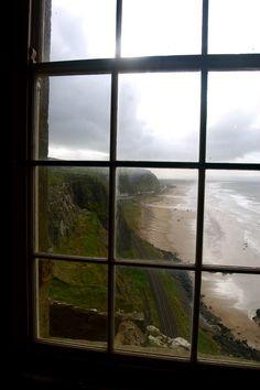 Rain on the coast of Northern Ireland.