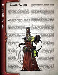 Slate-Agent (Warhammer Book of Judgement) Warhammer Lore, Warhammer 40000, Sketches Tutorial, War Hammer, Gw, Dieselpunk, Slate, Weird, Hobbies