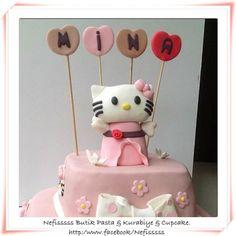 Hellokitty birthday cake, girl, ladybird, butterfly,pink,baby                                   Nefisssss Butik Pasta & Kurabiye & Cupcake.      http:/www.facebook/Nefisssss