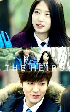 Park Shin Hye as Cha Eun Sang and Lee Min Ho as Kim Tan in The Heirs 상속者들