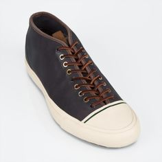 Paul Smith Shoes - Brown Dip-Dyed Leather Boerum Trainers